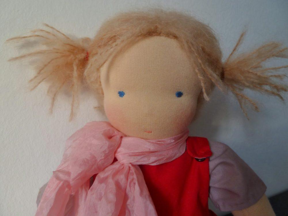 Waldorf doll play